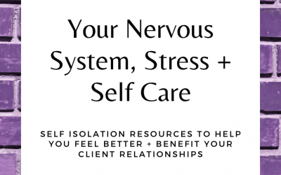 Your Nervous Systems, Stress + Self Care: Self Isolation Resources