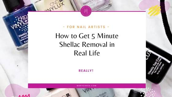 How To Get 5 Minute Shellac Removal IRL